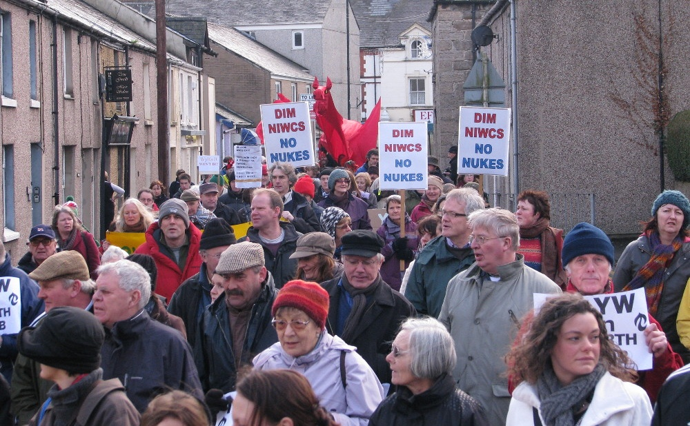 Protest Against Wylfa Anglesey